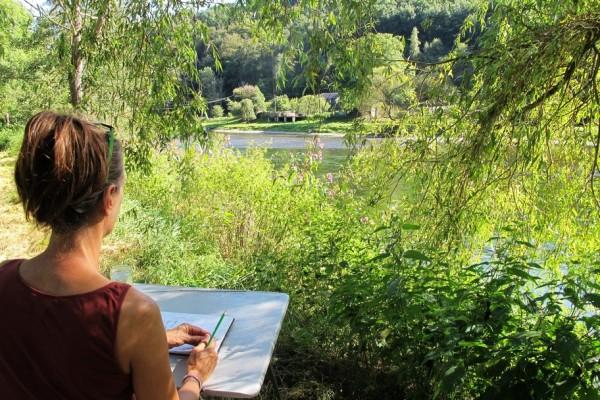 schilderworkshop Ardennen, camping Les Murets